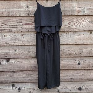 One Clothing Crop Jumpsuit NWT small black lined